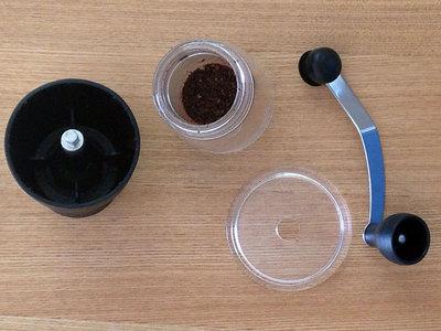 コーヒーミルを分解したところ