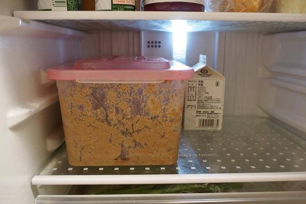冷蔵庫でぬか漬け